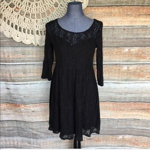 Free People | Lace Fit And Flare Boho Skater Dress